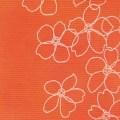 花柄オレンジ(No.84)ポリエステル