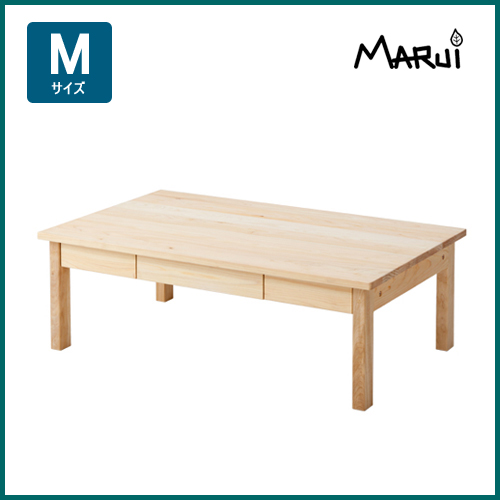 ヒノキスリムローテーブルM型