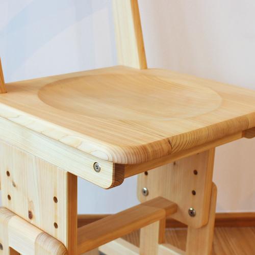 桧学習机椅子つるつる座