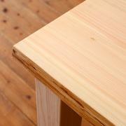 テーブル用 木の皮付天板 〔片側・両側〕 (Pデスク・プレーン・ナチュラル・ベンチ・シンプルテーブル用)