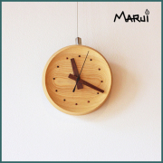 天然木製栓壁掛け時計