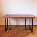 ブラックウォールナット無垢 7枚接ぎダイニングテーブル天板 サイズオーダー 厚さ2.7cm 4.2cm 天然木製 送料無料