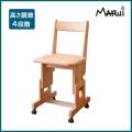 ヒノキSDチェア/板座(キャスター付) 天然木製ひのき無垢 安心のオイル仕上げ 学習机用椅子 国産