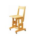 ヒノキSCチェア/キャスター付 天然木製ひのき無垢 安心のオイル仕上げ コンパクトな小学生サイズ椅子 国産