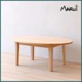 ひのきエッグテーブル 楕円形ローテーブル 天然木製ひのき無垢 安心のオイル仕上げ 国産