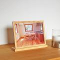 ひのきフォトスタンド A4 写真立て 天然木ヒノキ無垢 フォトフレーム ギフト プレゼント 国産
