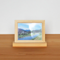 ひのきフォトスタンド L版 写真立て 天然木ヒノキ無垢 フォトフレーム ギフト プレゼント 国産