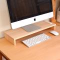 ひのきモニター台 PCキーボード収納 コンセント付き可 天然木ヒノキ無垢 オイル塗装 国産