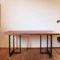 ブラックウォールナット無垢 モザイクジョイントダイニングテーブル天板 サイズオーダー 厚さ2.7cm 4.2cm 天然木製 送料無料