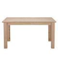 オーダーナチュラルテーブル〔W152×D89×H84cm〕ほぼ節無し・ダークブラウン色・片側引出し3個付