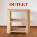 アウトレット 杉のキッズ本棚 天然木製スギ無垢 無塗装 子供本棚 ラック 国産