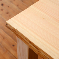 テーブル用 木の皮付天板 〔片側・両側〕 (Pデスク・プレーン・ナチュラル・ベンチテーブル用)