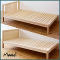 マットレス用ひのきシングルベッド [2040・2140] 天然木製無垢 オイル仕上げ 桧フレーム すのこ 国産 送料無料