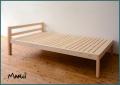ひのき棚付シングルベッド [2040・2140] 天然木製無垢 オイル仕上げ 桧フレーム すのこ 国産 送料無料
