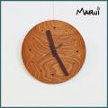 天然木製クルミ無垢壁掛け時計