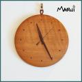 天然木製ナラ無垢壁掛け時計
