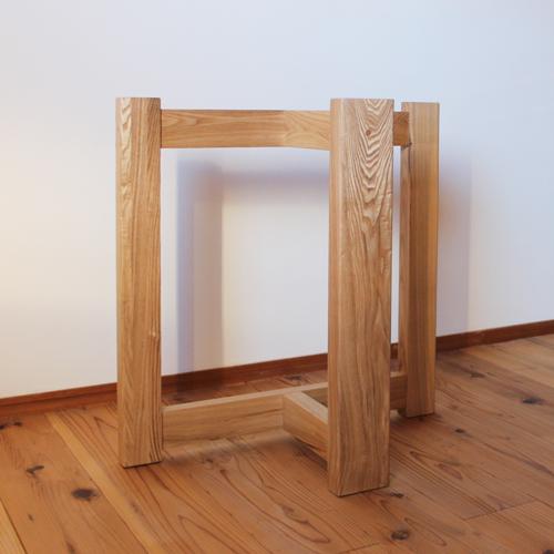 リビングダイニング兼用脚 タモ無垢木製脚 ブラックウォールナット無垢テーブル天板用