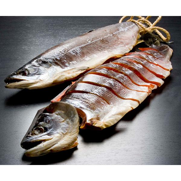 紅鮭 蔵造り塩引鮭 一本姿切身 BBG