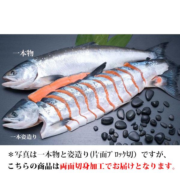 さしみ鮭時不知姿切身(両面切身加工) 2.2kg TSG22 【WEB限定品】