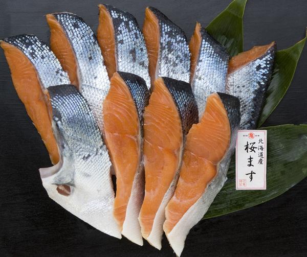桜ます(さしみ鮭誂え)半身切身袋詰 SSF80