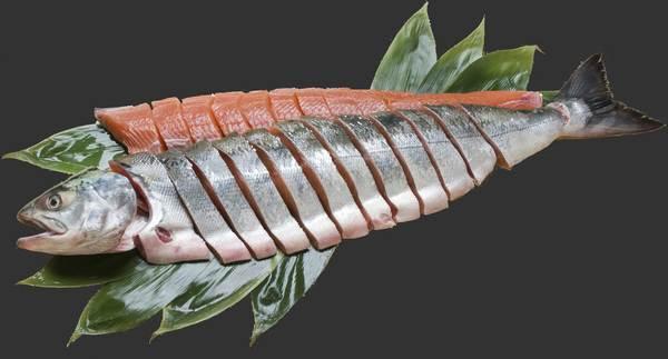 生秋鮭姿切身(銀毛メス) 3.0kg 両面切身・いくら醤油漬付 AMG30