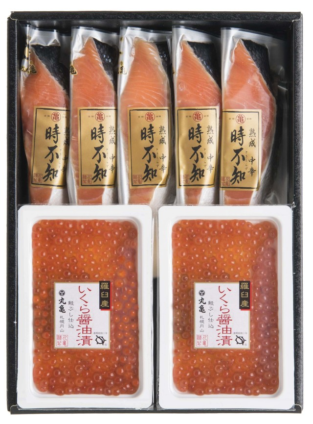 熟成中辛時不知(5切)といくら醤油漬(130g)詰合せ TTI13