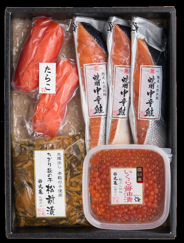 焼用中辛鮭(秋さけ)四色詰合せ VAH50