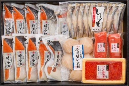さしみ鮭「時不知」と季の味覚五色詰合せ VTS140