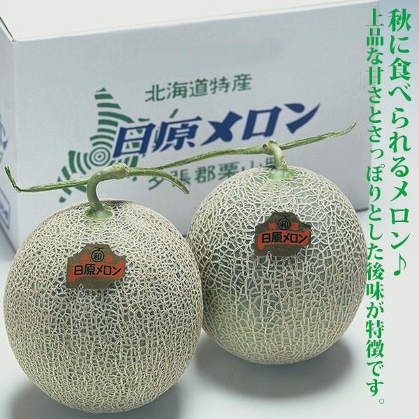 【ご予約品】栗山町産 日原メロン(赤肉)2玉入り 【同梱不可】