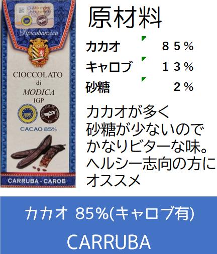 【ポイント5倍還元!】ティピコバロッコ モディカ チョコレート IGP【カカオ85% キャロブ入り 砂糖2%】【イタリア・シチリア】