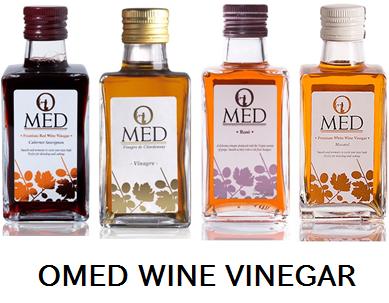 OMED オーメッド ワインビネガー4種 各250ml ◆赤 カベルネ・ソーヴィニョン ◆白 シャルドネ ◆ロゼ ◆モスカテル