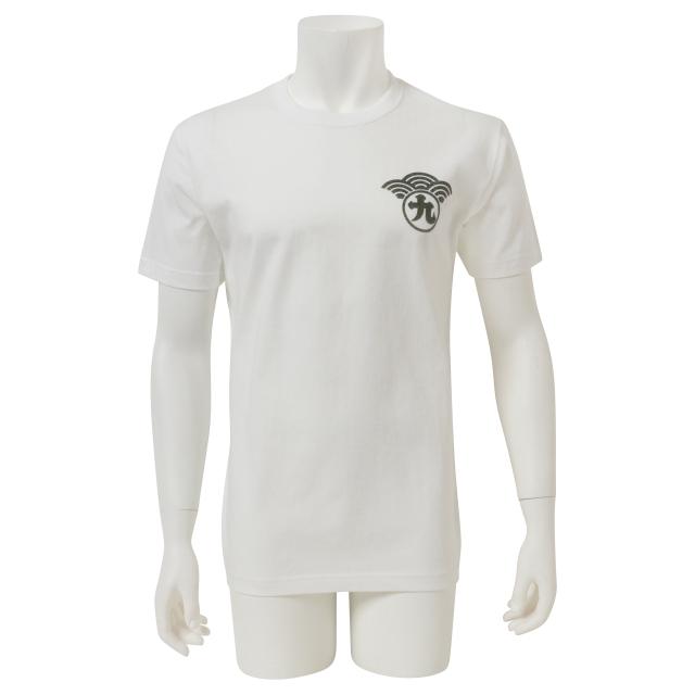 【釣りフェスティバル】和柄螺鈿(らでん)調プリント半袖Tシャツ/ホワイト