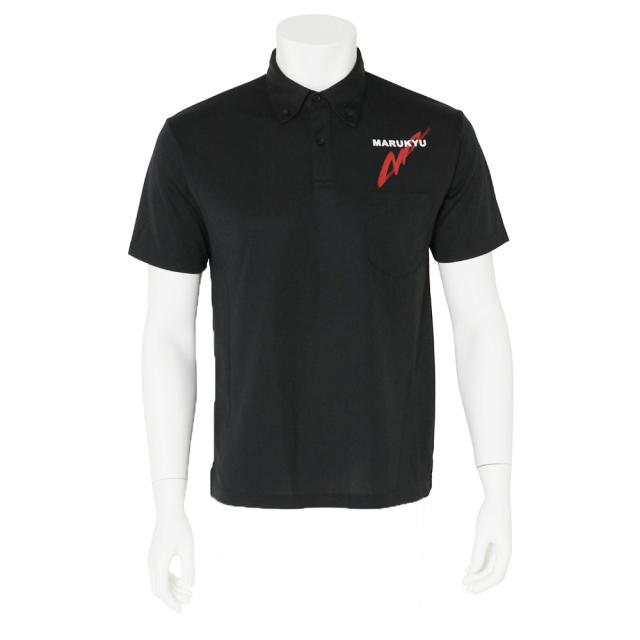 ドライボタンダウンポロシャツMQ01/ブラック