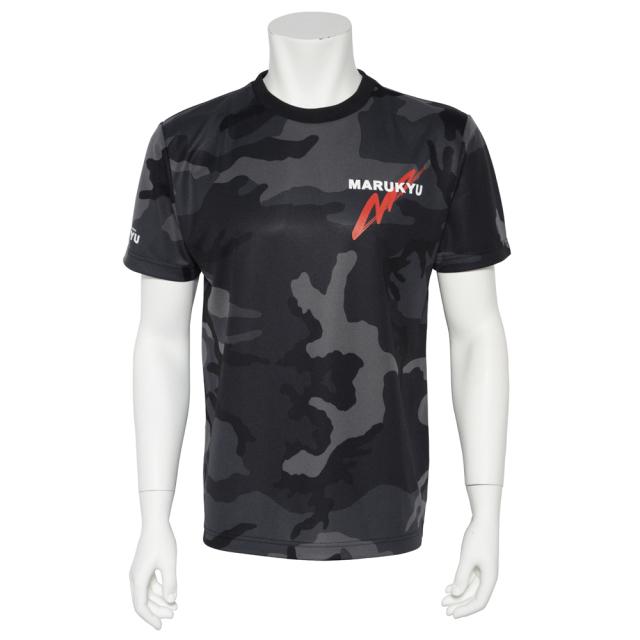 ドライカモフラージュTシャツMQ02 ブラックウッドランド