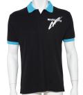 カノコポロシャツMQ02 ブラック/ブルー