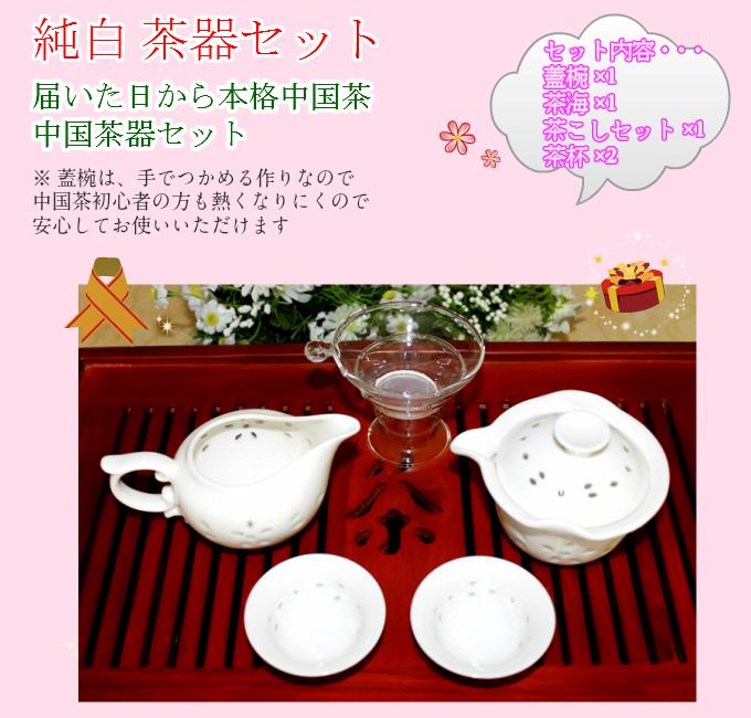 中国茶器入門セット【純白 ホタル 茶器セット】 【送料無料】