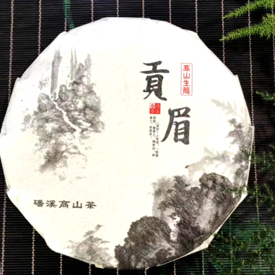2018年白茶 福鼎白茶 中国茶(白茶 寿眉 貢眉 茶餅)1枚300g