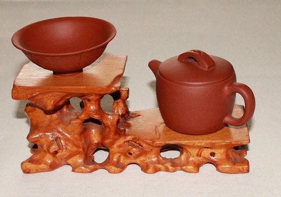 【中国茶器 飾り台】 中国茶器等をのせる台 紫砂壺 台