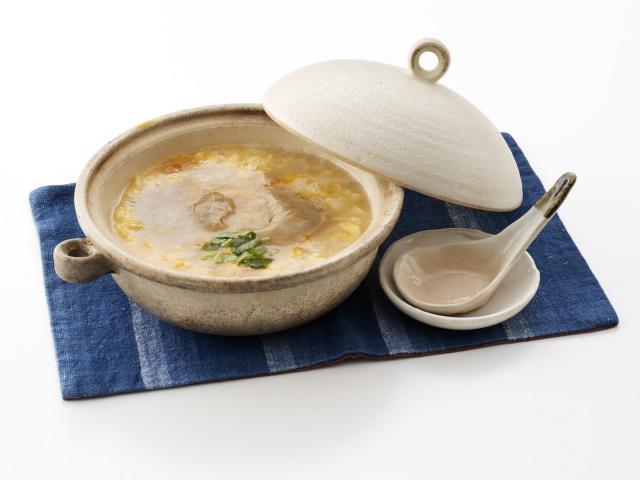 ふかひれ雑炊の調理イメージ