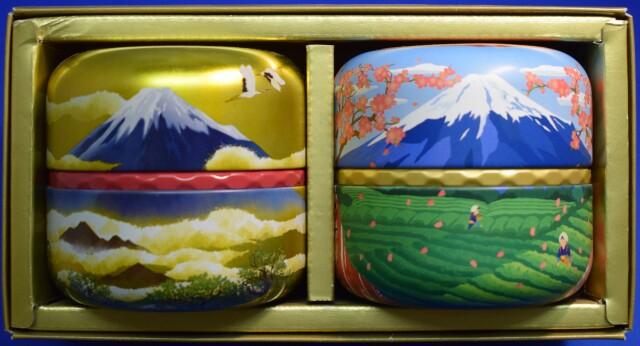 高級茶富士山缶の2缶セット