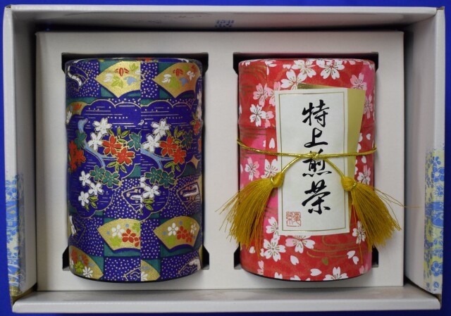 特上茶和紙2缶セット