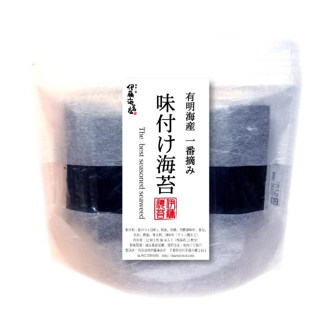 一番摘み 味付海苔 徳用 12切5枚×36束入り