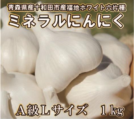 【平成30年産新物/青森県産福地ホワイト六片ミネラルにんにく】 A級Lサイズ1Kg(約15玉前後)