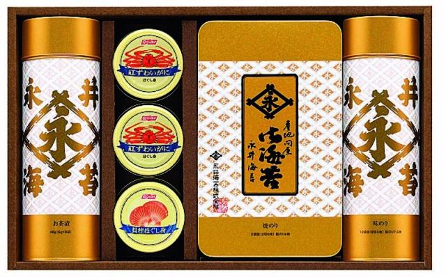 永井海苔 海苔・カニ缶・貝柱ほぐし身詰合