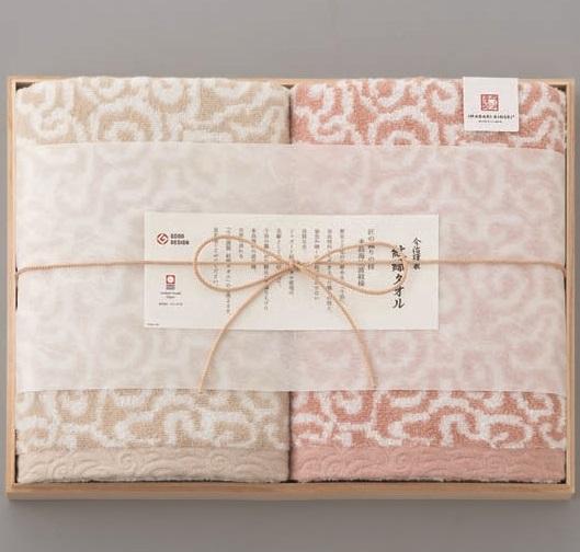今治謹製 紋織タオル バスタオル2P(木箱入)