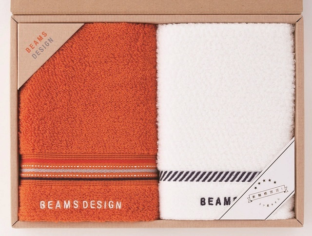 BEAMS DESIGN〈ラインドット〉 フェイスタオル2P