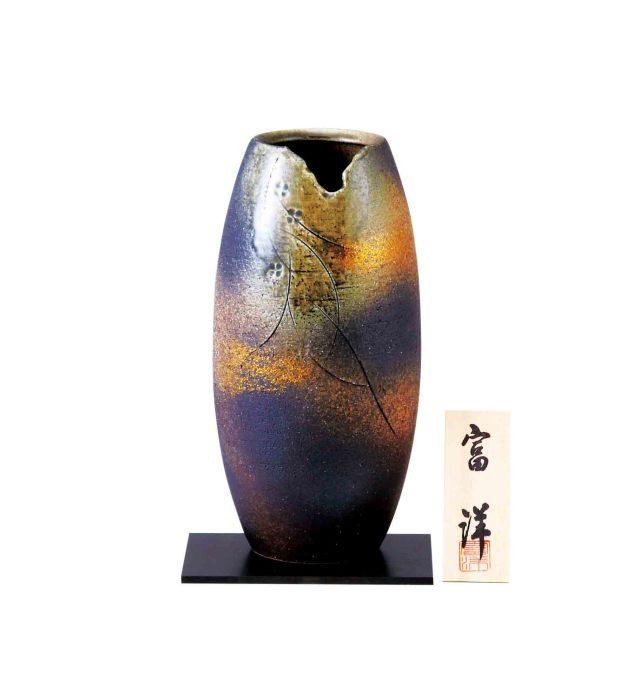 【MM7-160-7】   10号花瓶 都花織部