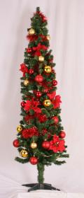 スリムツリー装飾例180cm(GO/R)
