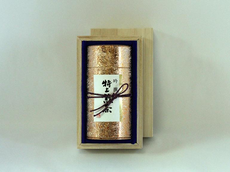 極上掛川深蒸し茶 吟選(ぎんせん)/極上煎茶180g缶 木箱入
