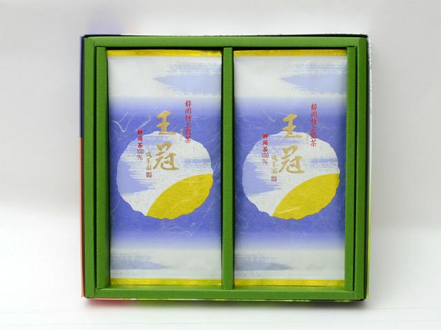 特撰掛川深蒸し茶 特撰煎茶 王冠(おうかん)/100g×2本 箱入【緑茶 通販 ギフト 贈答品 】